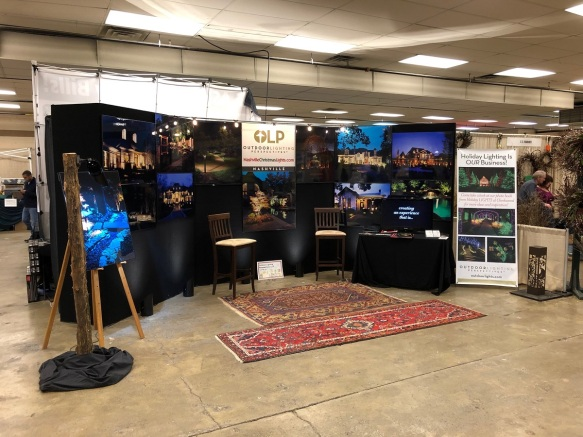 Lawn and garden show booth 2019